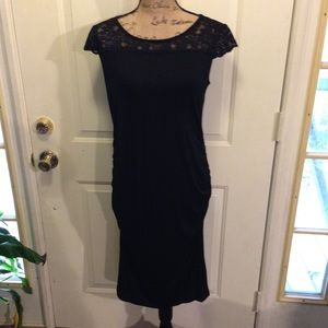 NWOT Beautiful Black Lace Top Bodycon Dress